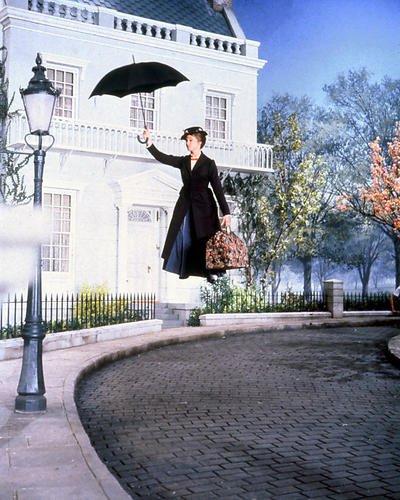 Julie Andrews 10 x 8 fotografía de promoción de vuelo con paraguas Mary Poppins