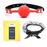 Best Gag Balls - Silicone Leather Mouth Gag, TwoS Soft Silicone Ball Review