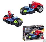 Spiderman SPIDER-MAN Building Block Brick Motorcycle Set - 6006