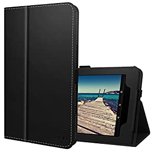 Ztotop Folio Case for Amazon All-New kindle Fire HD 10 Tablet (2017 Release, 7th Generation) - Smart Cover Slim Folding Stand Case with Auto Wake / Sleep,Black