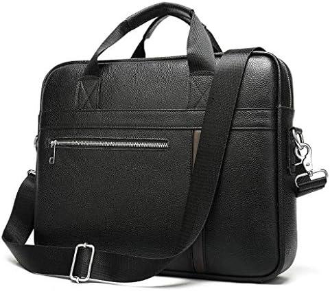 レザーラップトップバッグ 14 Inch, 旅行用ハンドバッグを運ぶブリーフケースショルダーメッセンジャーバッグサッチェルタブレットビジネス, ビジネス