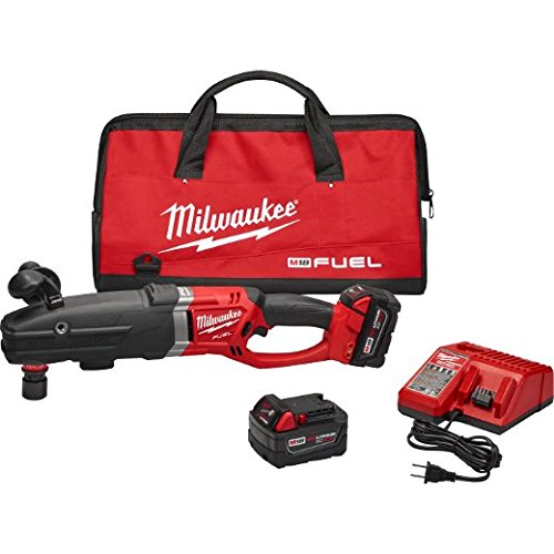 Drill Hawg Angle (Milwaukee 2711-22 M18 Fuel Super Hawg Right Angle Drill Kit with Quik-Lok)