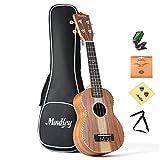 Moukey Start to Play Soprano Ukulele Set with Tuner Gig Bag Strap and Extra Strings