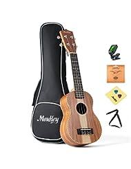 Moukey Start to Play Soprano Ukulele Set with Tuner Gig Bag S...