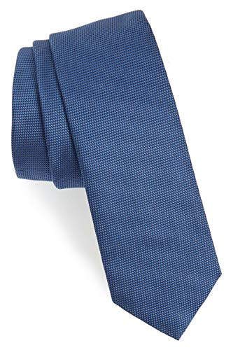 Hugo Boss Tailored Slim Woven Italian Silk Tie, Cobalt Blue 50390419