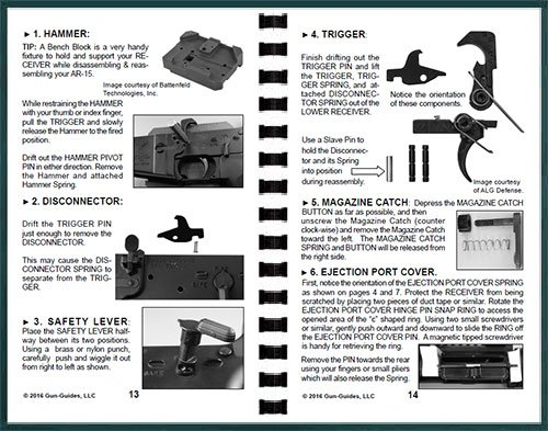 Review Ar-15 Disassembly, Cleaning, Lubrication & Reassembly Gun-Guide® for all models. (Disassembly & Reassembly Guide)