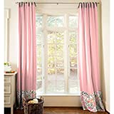 Carousel Designs Coral Pink Tropic Floral Drape Panel 96-Inch Length Standard Lining 42-Inch Width