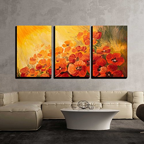 3 Piece Canvas Wall Art - Oil Painting - Abstract Illustration