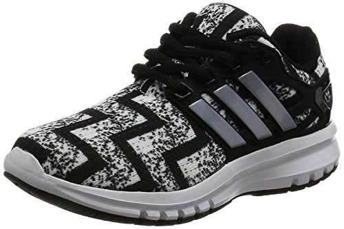 Adidas Energy Cloud K, Chaussures de Tennis Mixte Enfant, Marron (Negbas/Ftwbla/Plamet), 36 EU