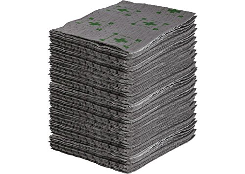 Sorbent Products Company 143506  HTBB100 High Traffic Barrier Backed Series Pads, Polypropylene, 15 '' x 19'', Gray with Safety Print (Pack of 100) by Sorbent Products Company