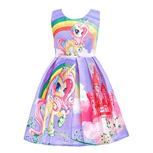 Lito Angels Kleine Meisjes Regenboog Eenhoorn Jurken Kostuum Luxe Costumeren Kleding Halloween Partij