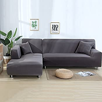 Amazon Com Eleoption Sectional Sofa Slipcover Couch Cover