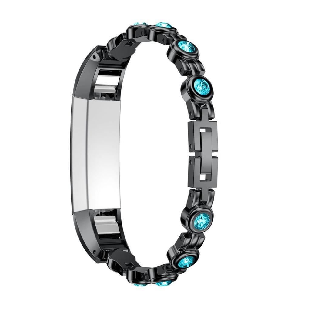 junshionバンド純正ステンレススチールWatchブレスレットBand Strap for Fitbit ALTA HR/Fitbit ALTA Watch  E B07DXRN86B