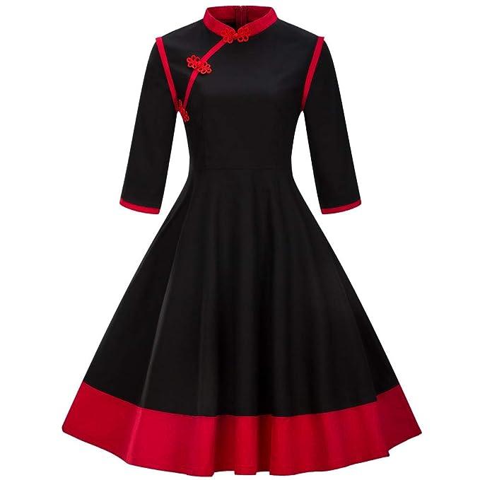 Womens Dresses Winter Plus Size Jiayit Lady Vintage Cheongsam Dress ...