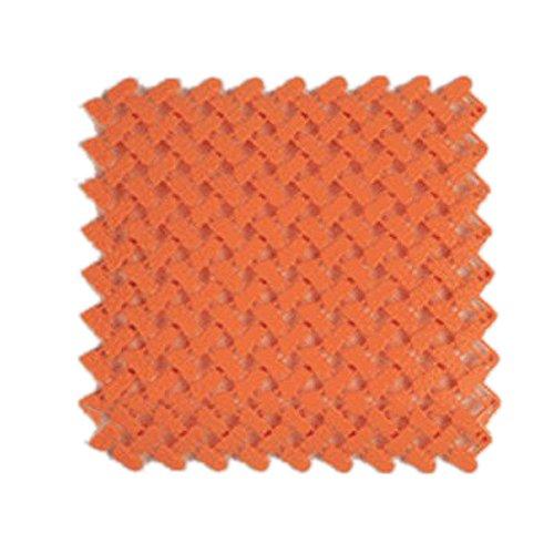 TOOGOO(R)Confezione da 2 Tappetini da Bagno antiscivolo banda, arancione SHOMAGT23491