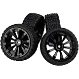 1/16 RC Off-road Cars Rally Car Tires Tyres and Wheels Rims 12mm Hex 3mm Offset 4pcs