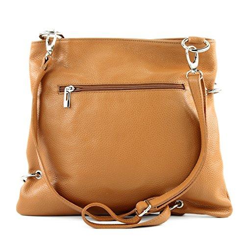 sac cuir Camel de bandoulière dames en sac à Messenger sac 2in1 modamoda NT07 en ital sac cuir a7q4RaWE