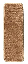 Softy Stair Treads Solid Beige Camel Hair, Skid Resistant Rubber Backing Non Slip Carpet 9\