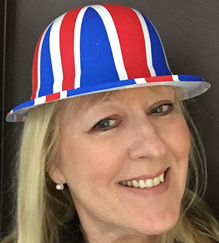 24 PIECE UNION JACK BOWLER HAT AND FLAG PARTY PACK FOR ALL UK CELEBRATIONS AND EVENTS