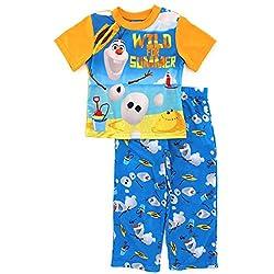 Frozen Olaf Boys Orange Poly Pajamas (4)