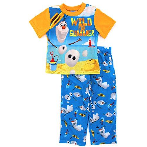 Frozen Olaf Orange Pajamas Little