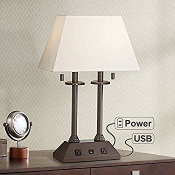 Charlton Traditional Desk Table Lamp With Hotel Style Usb
