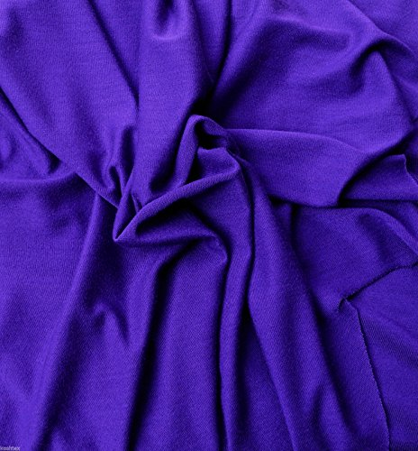 Purple Micro Modal Jersey Knit Non Stretch Semi Sheer (Soft Silky Lingerie Fabric)