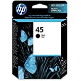 HP 45 Ink Cartridge, 830 Page Yield, Black by HP