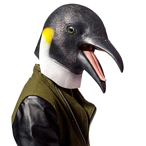 PartyHop - Penguin Mask - Halloween Latex Animal Mask]()