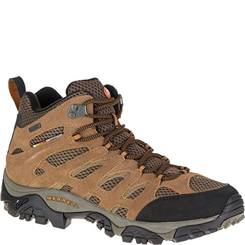 Merrell Men's Moab Mid Waterproof Hiking Boot,Earth,8 M US Faster Mid Trail Shoes