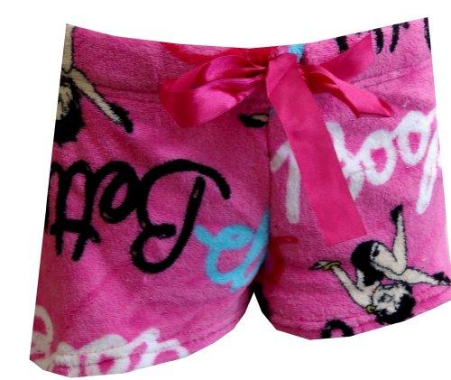 ignature Hot Pink Plush Sleep Shorts (Large) ()