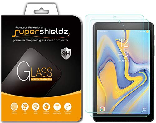 (2 Pack) Supershieldz for Samsung Galaxy Tab A 8.0 inch (2018) (SM-T387 Model) Tempered Glass Screen Protector Anti Scratch, Bubble Free (Galaxy Tablet 8 Screen Protector)