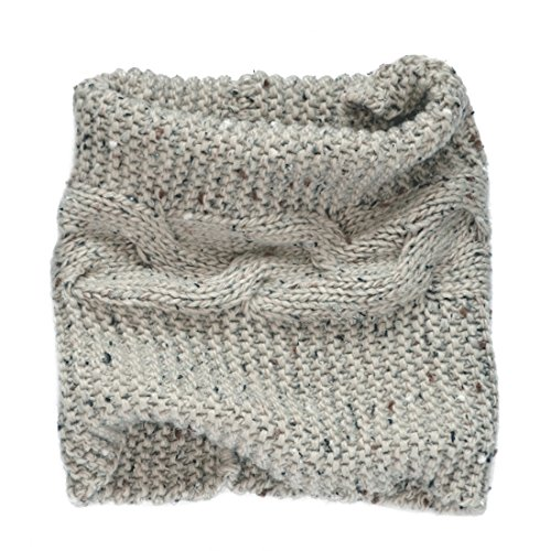 (Patrick Francis Ireland Knitted Oatmeal Speckled Wool Cosy Snood)