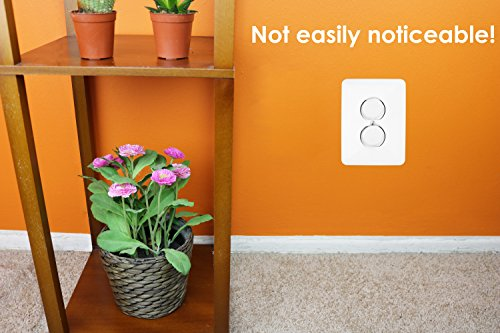 50 Count Premium Quality Childproof Outlet Covers - VALUE PACK - New & Improved Baby Safety Plug Covers - Durable & Steady - Pack Of 50 Plugs