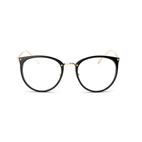 0c1ad214e8742f Pingenaneer Montures de lunettes Rétro Rondes Lunettes de Vue Lentille  Claire pour Homme et Femme Lunettes Cadre Noir mat  Amazon.fr  Cuisine    Maison