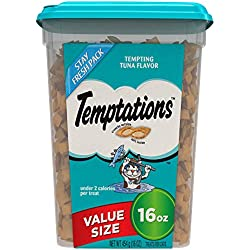 Temptations Cat Treats, Tempting Tuna Flavor, 16 Oz. Tub, Makes A Great Holiday Cat Stocking Stuffer
