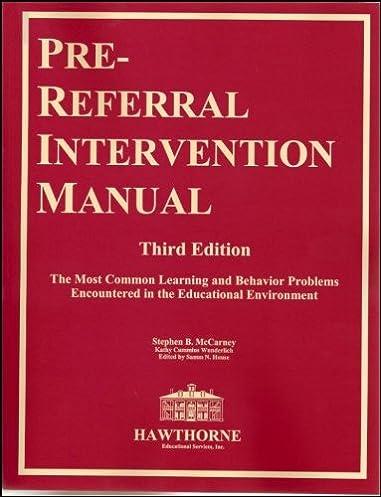pre referral intervention manual third edition stephen b mccarney rh amazon com