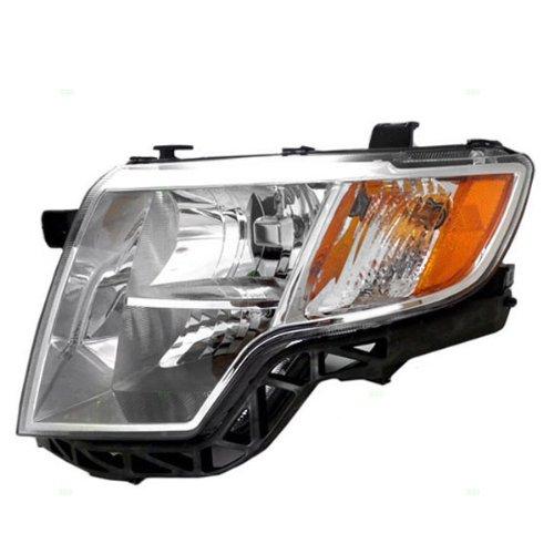 07-10 Edge Headlight Headlamp Chrome Bezel Trim Head Light Lamp Left Driver Side