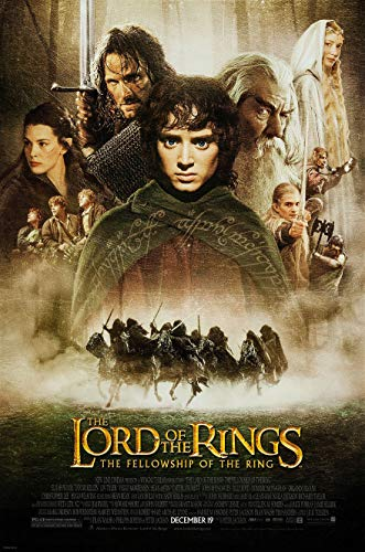 Ring Movie Of Poster Fellowship The - LORD OF THE RINGS FELLOWSHIP OF THE RING MOVIE POSTER 1 Sided ORIGINAL FINAL 27x40