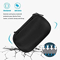 ProCase Travel Bag Hard Protective Coverwith Space for Wall Charger and USB Cable Ultimate Ears WONDERBOOM//WONDERBOOM 2 Wireless Speaker Carrying Case Black