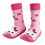 Infant Baby Cartoon Patterned Soft Rubber Bottom Anti-slip Floor Socks Boots Rabbit 9-18M