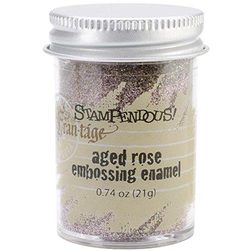 Stampendous Frantage Embossing Enamels Aged Rose Color