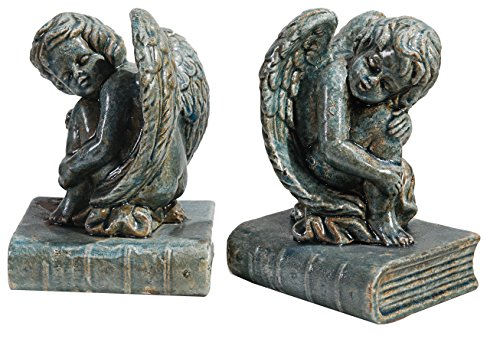 Angel Bookends - Established 98 20940 Angel Bookends, Aegean Blue