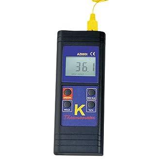 Termómetro digital Hanchen de contacto de mano tipo K termómetro AZ8801: -50-1300