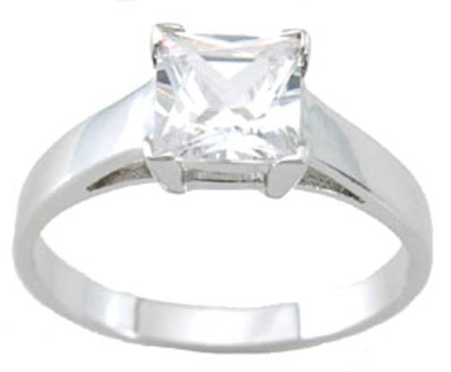 dia accented classic rings cut jewellery you modern look made square engagement and wedding ring