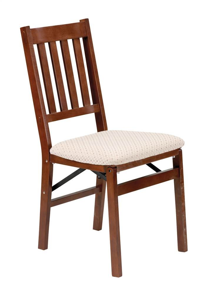 Arts and Crafts Folding Chair in Warm Cherry Finish – Set of 2
