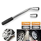 Universal Car Tire Socket Wrench Replacement Telescopic Extension Wheel Brace 4 Standards – 17mm 19mm 21mm 23mm