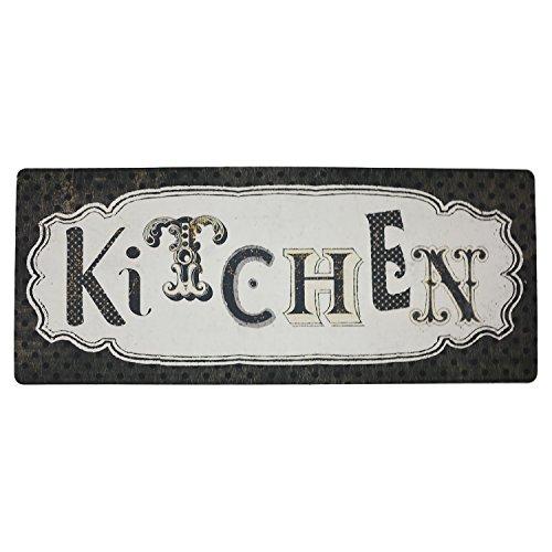 Ustide Vintage Kitchen Runner Water Retainer Floor Mat Rug Durable Non-slip Doormat 1.7'X4'