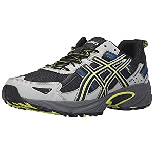 ASICS Men's Gel-Venture 5 Trail Runner, Dark Steel/Black/Neon Lime, 11.5 M US