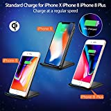 Wireless Charger, Seneo iPhone X Wireless Charger, Fast Wireless Charging Pad Stand for Galaxy Note 8/5 S8/S8 Plus S7/S7 Edge S6 Edge Plus, Standard Charge for iPhone X iPhone 8/8 Plus-NO AC Adapter